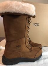 UGG ADIRONDACK TALL III CHESTNUT WATERPROOF SHEEPWOOL BOOTS 1017434 SIZE 6 NEW