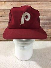 Vintage Phillies MLB Baseball Mesh Trucker Hat Grosscap Snapback