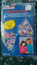 Vintage 1990 Create a Bow by Westrim  kit vinyl wearable art fashion accessories