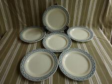 """6 assiettes plates salins bm,terre de fer,service """"sermaize""""(4)"""