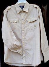 Akademiks Men's Shirt L Long Sleeve Button Front Cotton Blend Checkered.