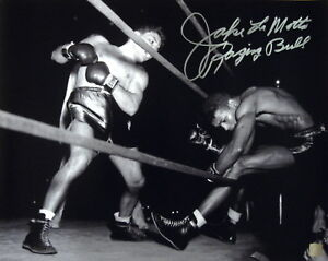 Jake LaMotta Raging Bull Autographed Signed 16x20 Photo KO Sugar Ray  ASI Proof