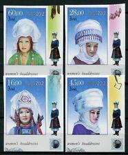 Kirgisien Kyrgizstan Kirgistan 2012 Kopfbedeckungen Trachten Ungezähnt Imperf