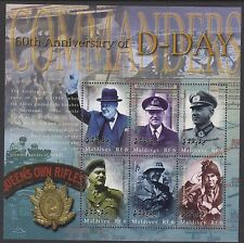 CHURCHILL :2004 MALDIVE ISLANDS D Day Anniversary sheet SGMS3934c MNH