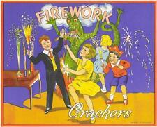 Fireworks  Crackers  dragon sparklers  British Cracker Box label Batgers