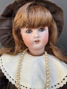 """Antique German 22"""" Gans & Seyfarth G & S 5 Bisque Head Doll Composition Body"""