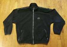 "Marmot Fleece Full Zip Jacket Coat XL black ""suede"" LS SPELL OUT VTG made in USA"
