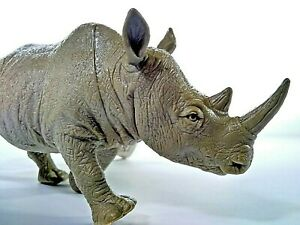 Rhino Boley Nature World PVC Rhinoceros Jungle Animal Toy Figure Figurine 5+