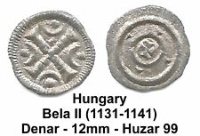 HUNGARY AR DENAR - Bela II (1131-1141) - Huz  99 Nice VF - 12mm - Offer