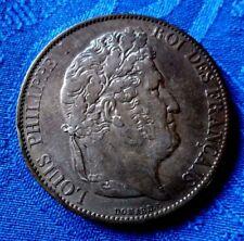 MONNAIE ANCIENNE DE 5F ECU LOUIS PHILIPPE Ier ARGENT  1848 A PARIS EN SUP