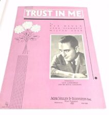 """Vintage """"Trust In Me"""" Sheet Music #2 Dated 1936 Guy Lombardo"""