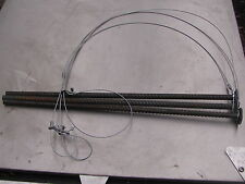 "3 groundhog Snares  36""x 1/16 & 3 18"" long 3/8 stakes(trapping,traps,snares)SALE"
