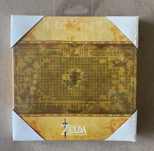 """Official Nintendo The Legend of Zelda Breath of the Wild Map Canvas Art 6x6"""""""