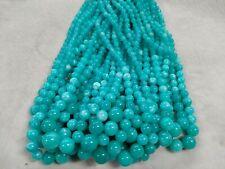 "1 Strand LARIMAR AQUA chalcedony big to small  Round 6-12 mm  Gemstone Beads 16"""