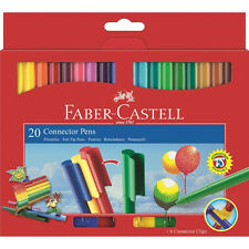 Faber-Castell 20 Connector Pens 3 Fluoro