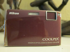 Nikon COOLPIX S60 10.0MP Digital Camera - Burgundy