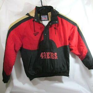 Vintage San Francisco 49ers Reebok Pro Line Pull Over Winter Jacket Size M