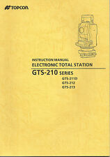 New Topcon Electronic Total Station GTS-210 Series Instruction Manual