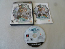 GAME PS2 PLAYSTATION 2 SUIKODEN III 3 W CASE & MANUAL RPG ROLE PLAY KONAMI PS2