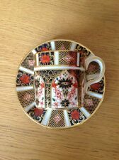 ROYAL CROWN DERBY 'Imari 1128' Coffee Can & Saucer, Excellent Cond. 1st c1978