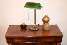 Original Berliner Messinglampen W7-99gr B/Bankerlampe/Schreibtischlampe/Neu!