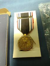 POW Prisoner of War  medal with ribbon bar POW Eagle and Barb Wire - NOS