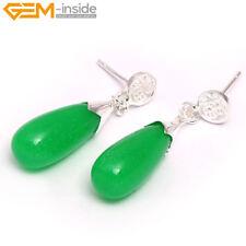 Women Drop Assorted Stone Silver-plated Studs Hook Earrings Party Eardrop Gift