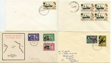 More details for tristan da cunha 4 covers 1953-67 inc. illustrated + block fdc