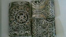 Pottery Barn Jacquelyn Medallion Sateen King Duvet Cover & 2 King Shams Gray New