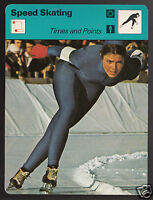 SHEILA YOUNG Speed Skating Olympics 1977 SPORTSCASTER CARD 10-21