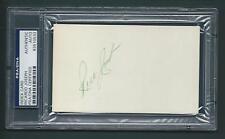 "Ricardo ""Rick"" Joseph signed 3""x5"" card PSA/DNA slabbed D'1979 Kansas City A's"