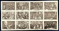 FRANCE Block of 12 Different Cinderellas, MNH, VF