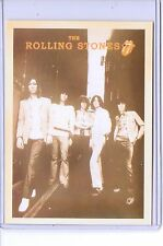VINTAGE REPRO THE ROLLING STONES BAND CELEBRITY REPRODUCTION POSTCARD