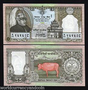 NEPAL 25 RUPEES P41 1997 X 100 Pcs KING Full Bundle COMMEMORATIVE COW UNC NOTE