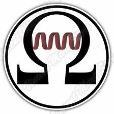 "OHM Sign Vape Vaping E-cigarette Atomizer Car Bumper Vinyl Sticker Decal 4.6"""