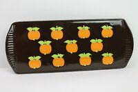 70er Vintage Kuchenplatte Graziela Ära Keramik Käseplatte Aufschnittplatte Apfel