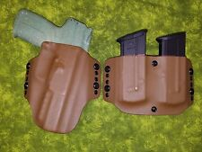 HOLSTER COMBO COYOTE KYDEX FN 5.7 MK2 WITH DOUBLE MAG HOLSTER