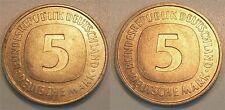5 DM Probe J.415 Coupling Zweier Wertseitenstempel Copper-Nickel 9,4g. Prfr