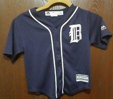 Majestic Blue Ian Kinsler Detroit Tigers Baseball Jersey Boy Medium 5-6