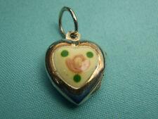 Cute Heart Locket Pendant Charm .925 Sterling Silver Each 1 a little Different