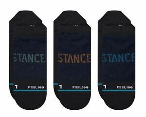 STANCE PRIME TAB 3 PACK SOCKS.NEW BLACK SPORT RUNNING TRAINER SIZE UK 6 - 16