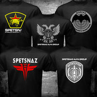 Soviet Russian Eagle Special Elite Forces Soldier Army Spetsnaz  Logo T-shirt