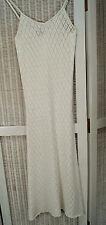 HUGO BOSS White Crocheted Midi Dress XS Stretch Bodycon Wiggle Cotton Dress