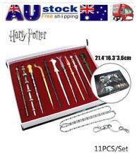 AU 11pcs Harry Potter Hermione Voldermont Luna Magical Wand with Metal Core Set