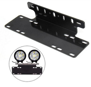 1)License Plate Frame License Plate Mount Holder Offroad Light Bar Front Bumper