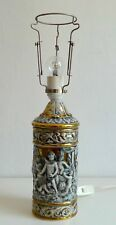 ALTE FIGÜRLICHE PORZELLAN TISCHLAMPE LAMPENFUSS LAMP ITALIEN ITALY ROM