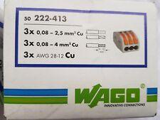 Wago Klemmen Serie 222-413 Leuchtenklemme Verbindungsklemme 50 St.3x0,08-2,5qmm