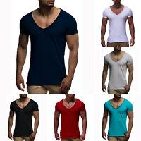 Men Summer Short Sleeve Muscle Plain Casual Sports T-shirt Tops Sweetheart Neck