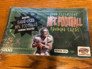 2000 Pacific Paramount Football Factory Sealed Retail Box w/ TOM BRADY Rookie