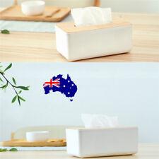Plastic Home Room Car Hotel Tissue Box Wooden Cover Paper Napkin Holder Case ON